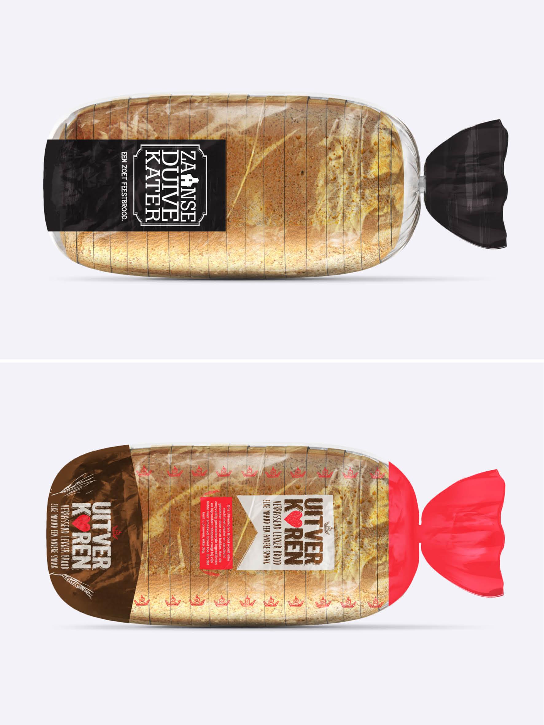 Ontwerp verpakkingen brood