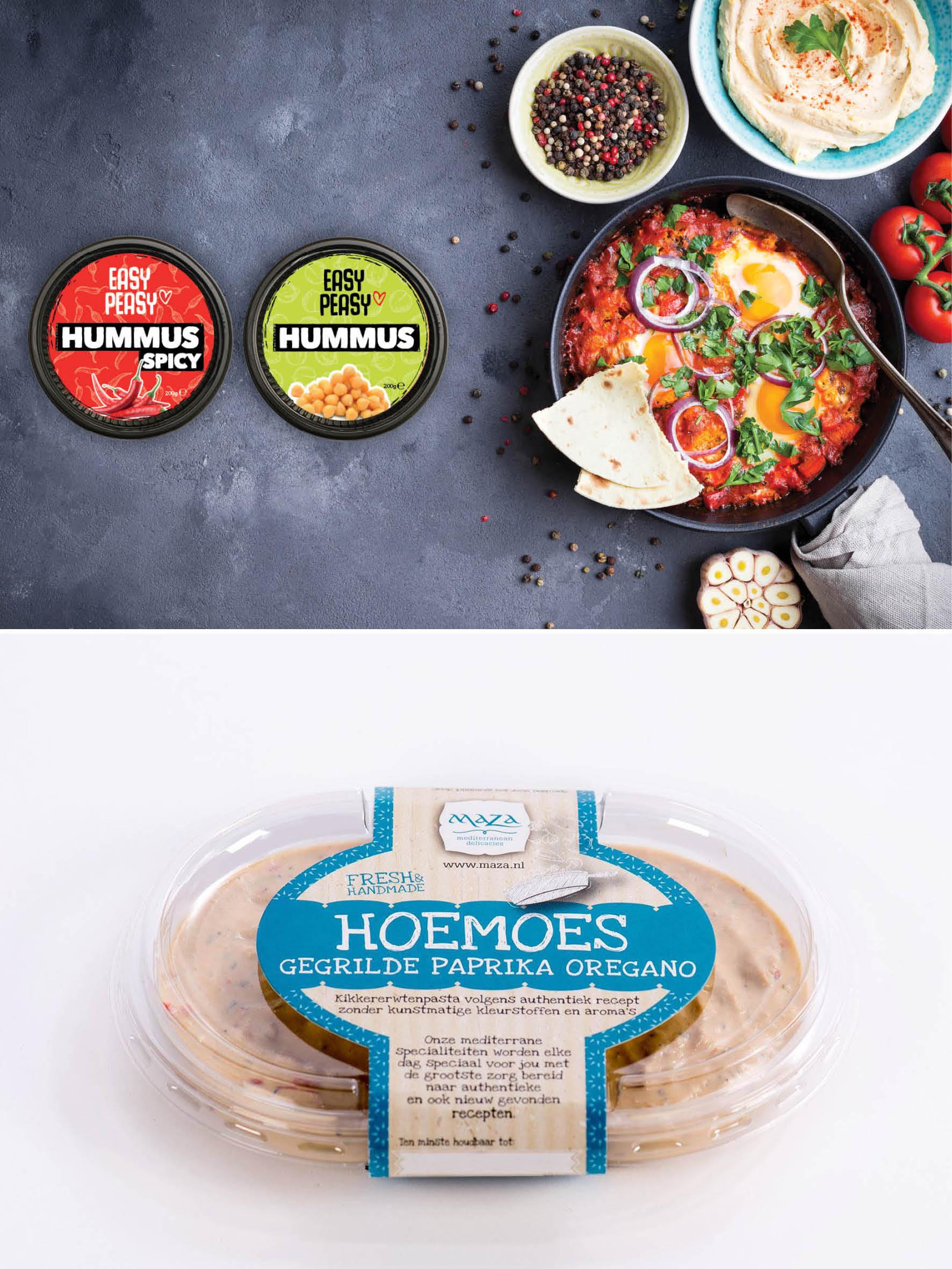 Ontwerp verpakkingen Hummus