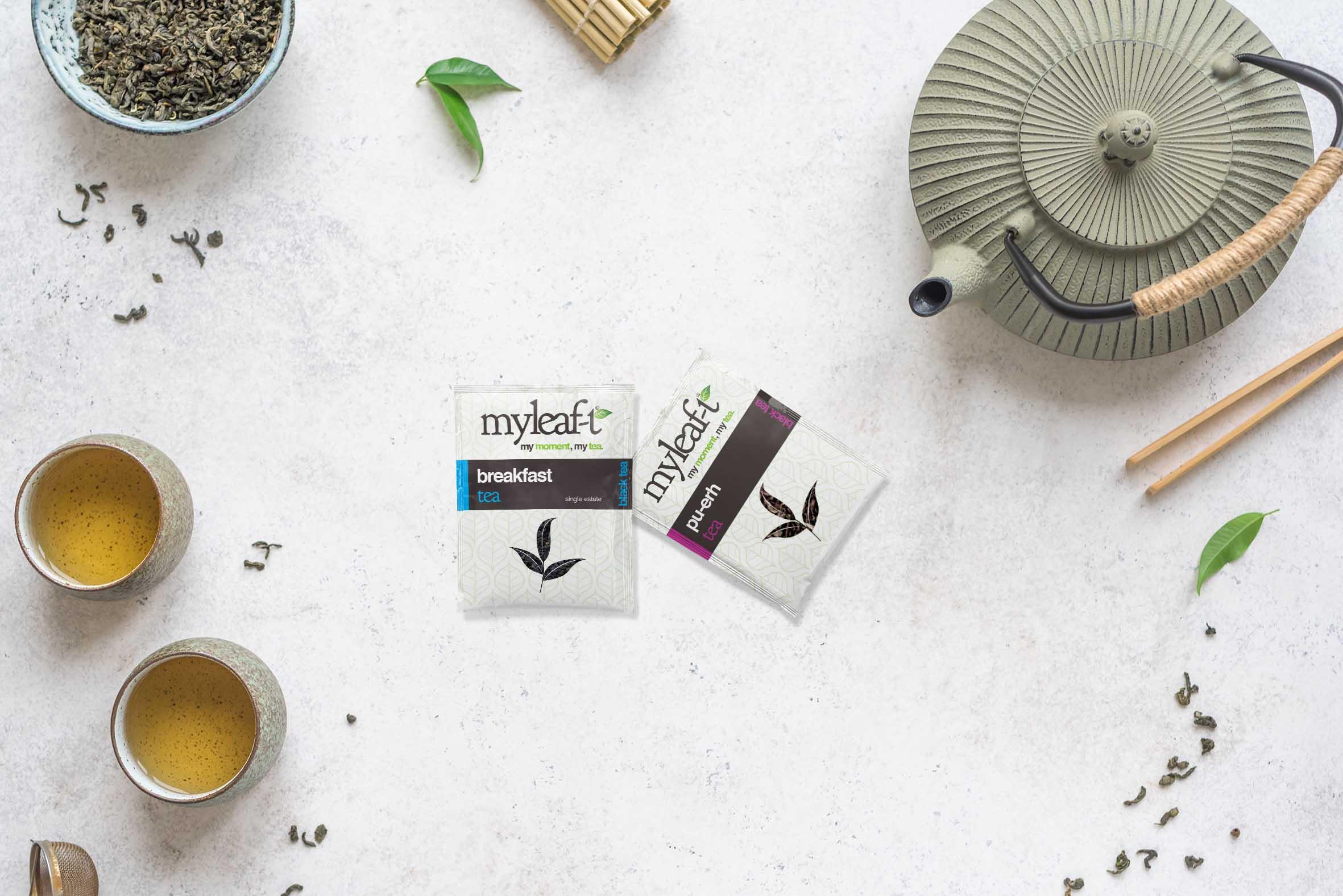 verpakkingsontwerp my leaf tea theezakje