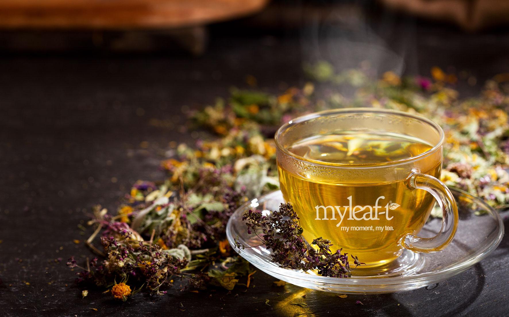 verpakkingsontwerp my leaf tea theekop