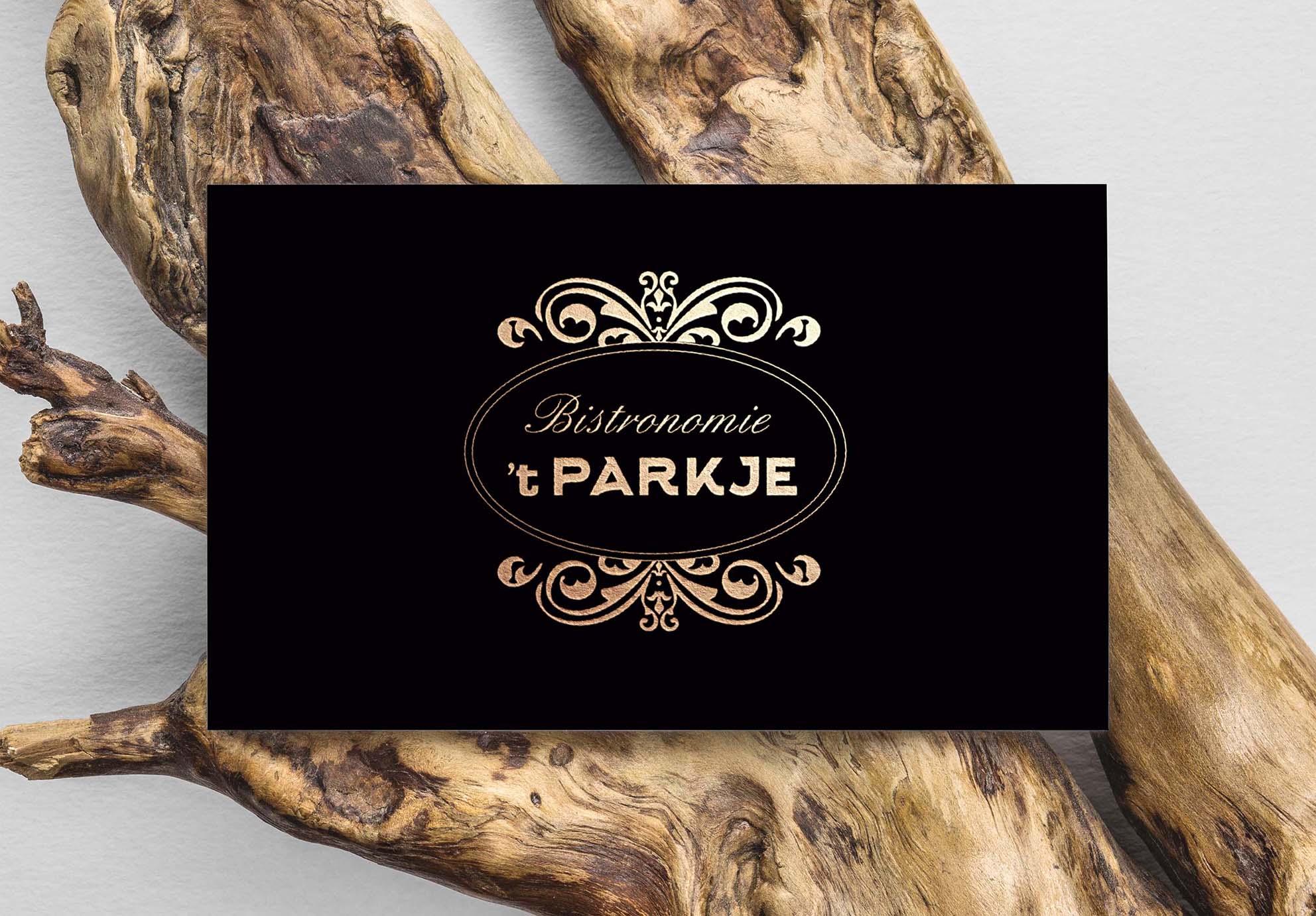 Huisstijl ontwerp 't Parkje visitekaartjes
