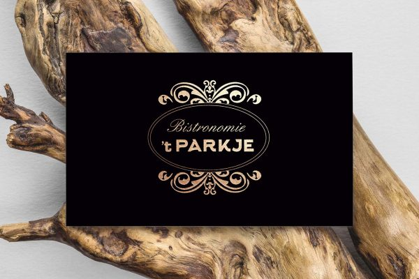 Parkje visitekaart design