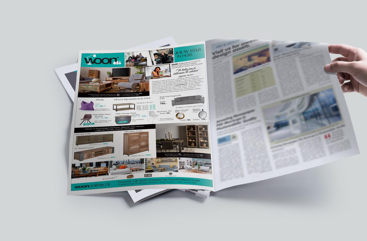 huisstijl ontwerp Woon alkmaar krant