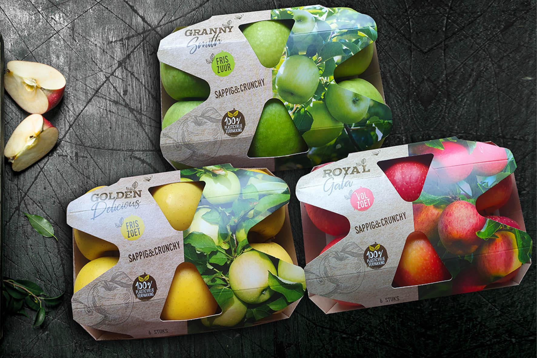 Verpakkingsontwerp appelen