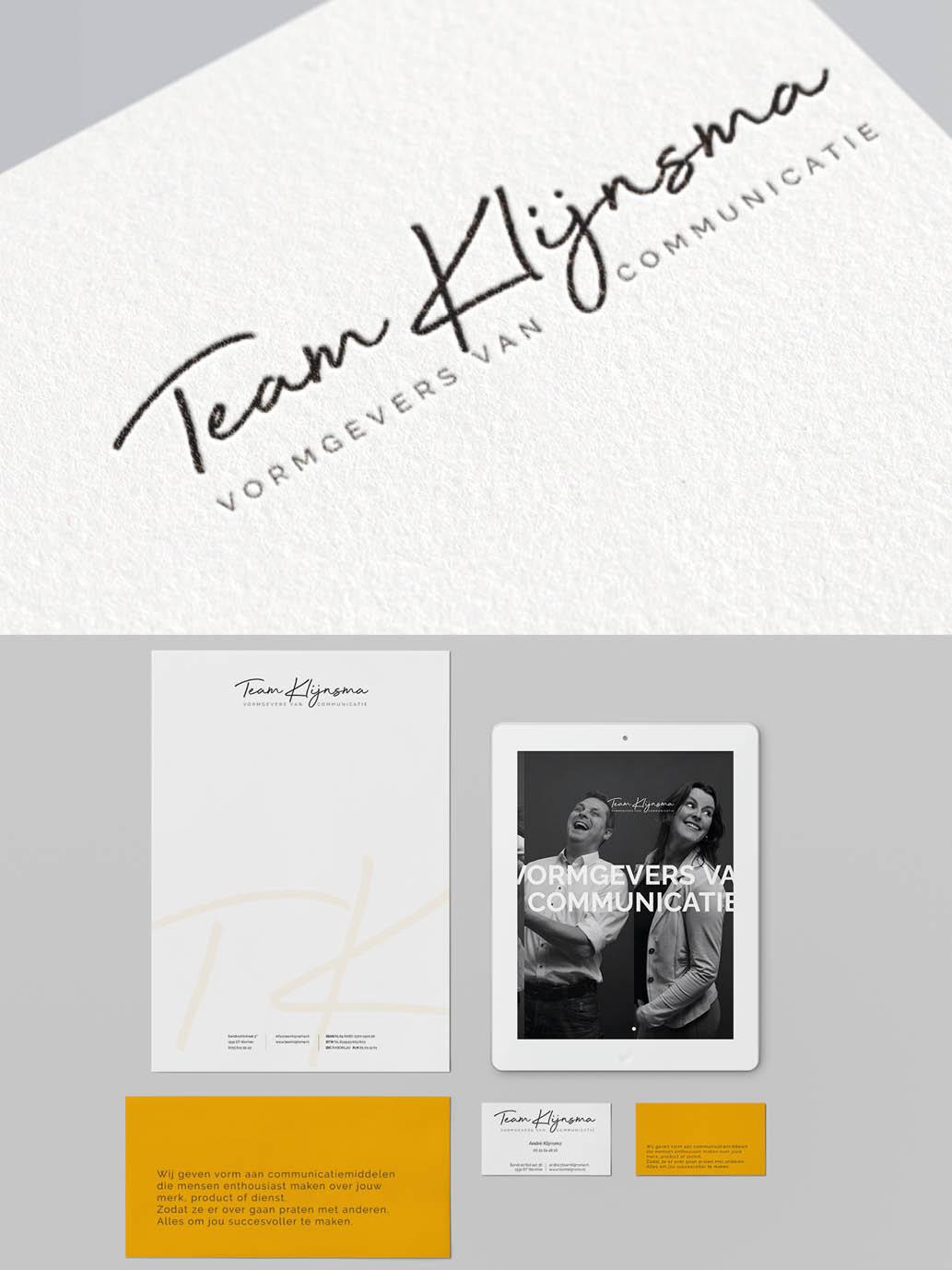 Huisstijl ontwerp team klijnsma